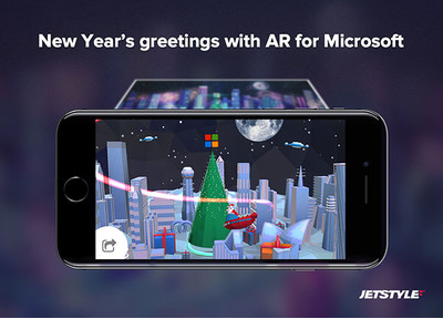 JetStyle: New Year's Greetings with augmented reality for Microsoft