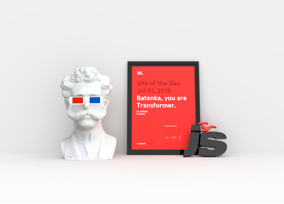 """Batenka, you are a Transformer"" won Site of the Day on Awwwards!"