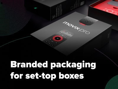 Case Study: Branded packaging for Dom.ru Movix set-top boxes