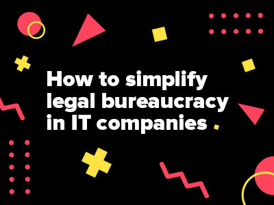 Speaking at the XI Russian Digital Week: How to simplify legal bureaucracy in IT companies
