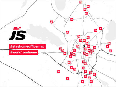 JetStyle on self-isolation: We've put together our #stayhomeofficemap