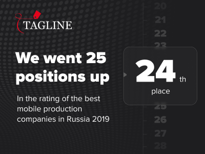 JetStyle in the Rating of the Best mobile production companies in Russia 2019 by Tagline